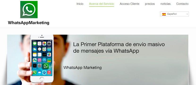 Servicio para mandar publicidad por Whatsapp