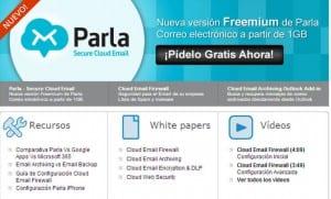 Nueva solución Parla de Spamina, una plataforma de mail en la nube para empresas en modelo freemium