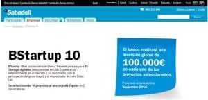 Seleccionadas las empresas en las que invertirá Banco Sabadell en la segunda convocatoria del programa BStartup 10