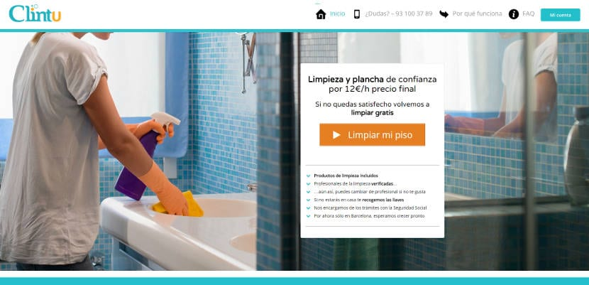 Clintu es una nueva plataforma que permite contratar profesionales de confianza con flexibilidad para realizar las tareas del hogar