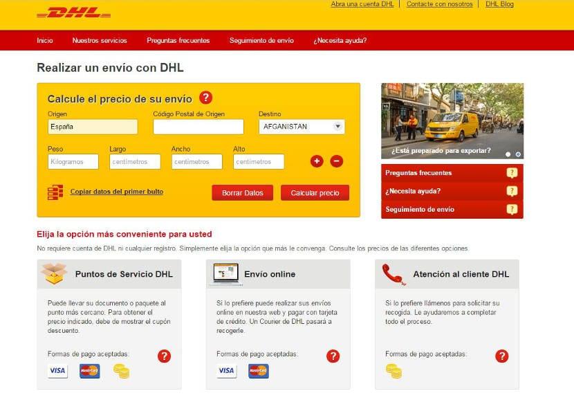 DHL lanza nueva web de comparación de precios de envíos para particulares y Pymes