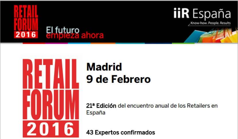43 expertos han confirmado su presencia en el Retail Forum 2016 que se celebrará en febrero
