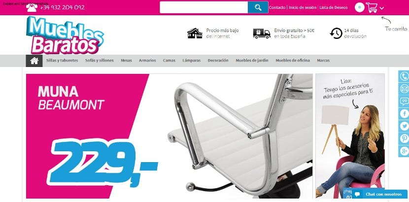 Retailers actualidad ecommerce for Muebles diseno baratos online