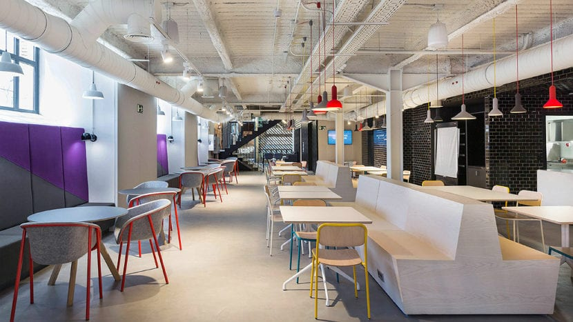 comedor del campus de google en madrid