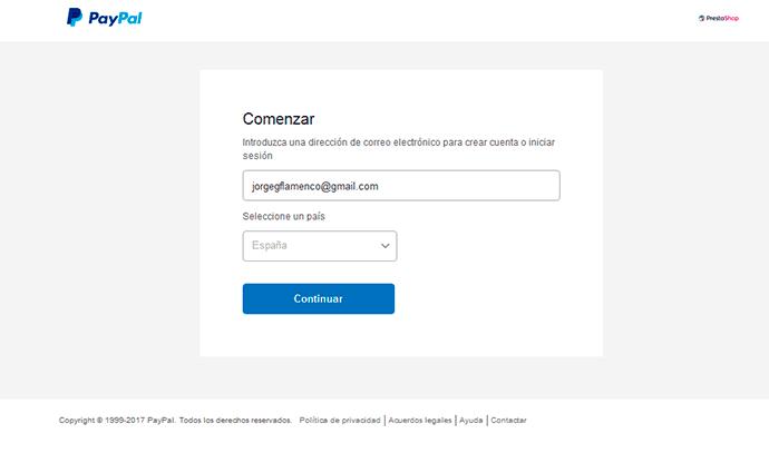 PayPal para Prestashop 1.7