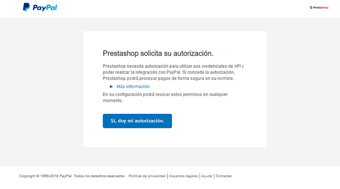 prestashop integrarse con PayPal