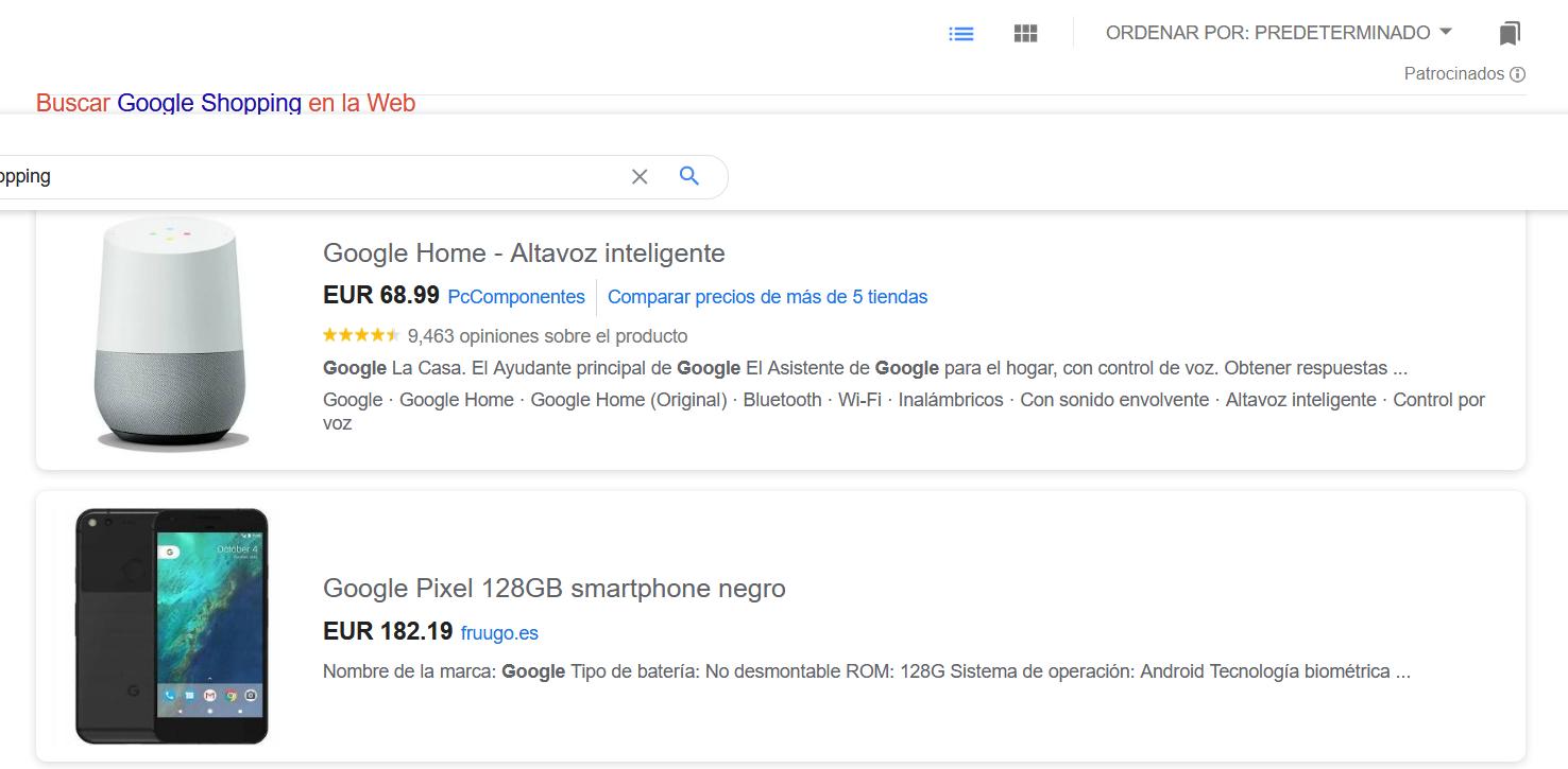 Ventajas de Google Shopping