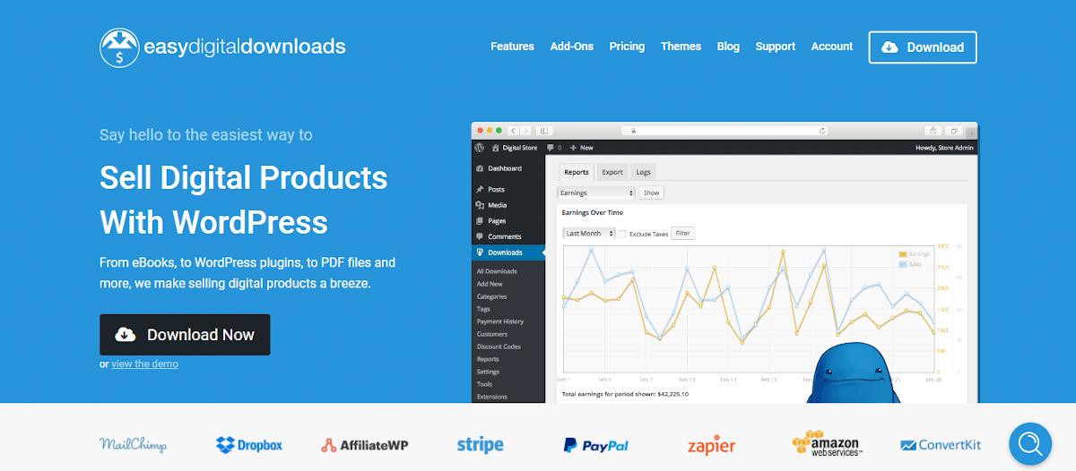 Easy Digital Downloads, una de las alternativas a WooCommerce enfocada en lo digital